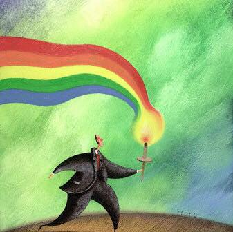rainbow-torch